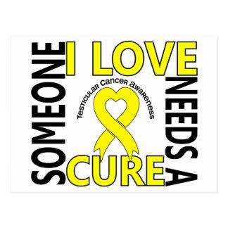 Needs A Cure 4 Testicular Cancer Postcard
