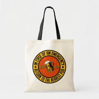 NEEDS BEER! bag - choose style & color