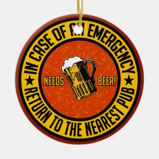 NEEDS BEER! ornament - customizable