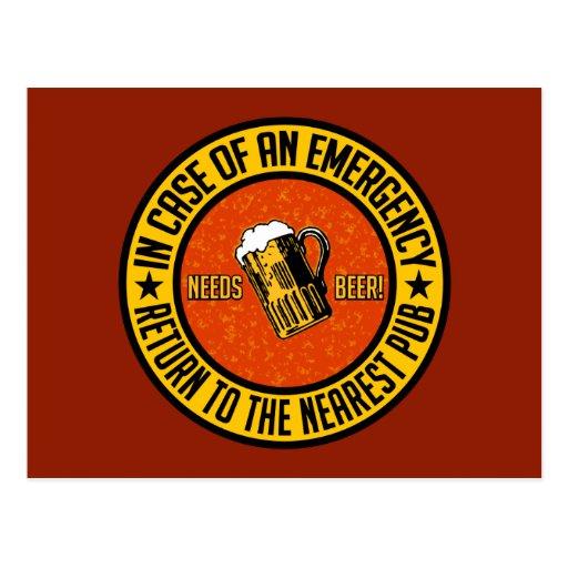NEEDS BEER! postcard - customizable