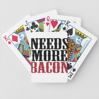 Needs More Bacon Bicycle Playing Cards