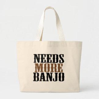 Needs More Banjo Large Tote Bag