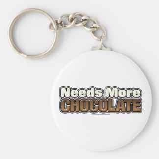 Needs More Chocolate Keychain