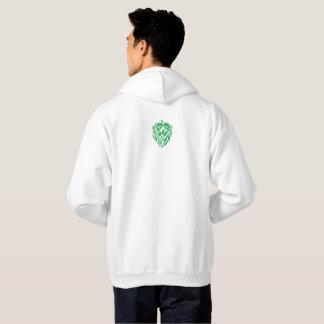 Needs More Hops Green on White Hoody