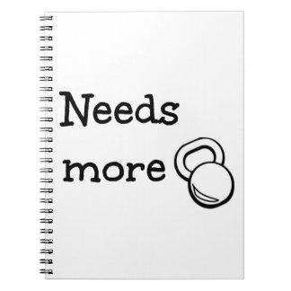 Needs More Kettlebell WOD Notebook Workout log
