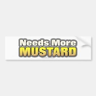 Needs More Mustard Car Bumper Sticker