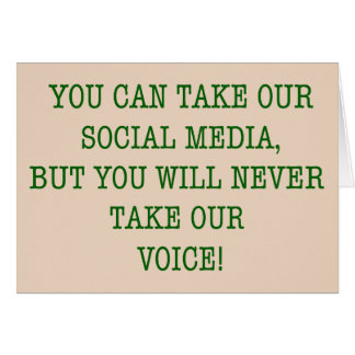 Neer Take Our Voice! Card