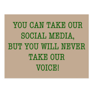 Neer Take Our Voice! Postcard