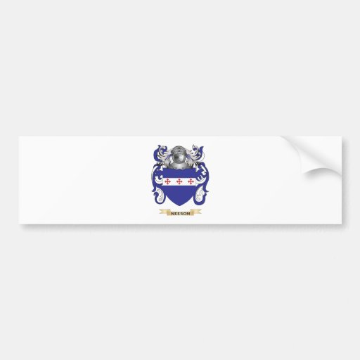 Neeson Coat of Arms (Family Crest) Bumper Stickers