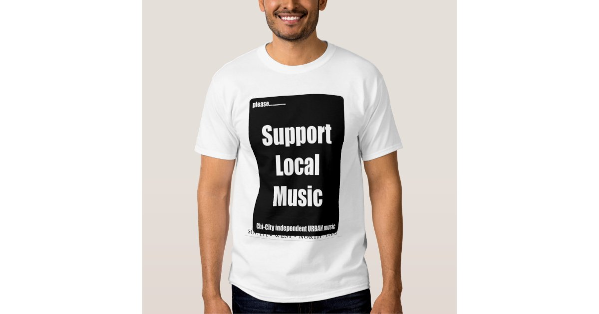 Nef entertainment support local music t shirt zazzle for Local t shirt printing companies