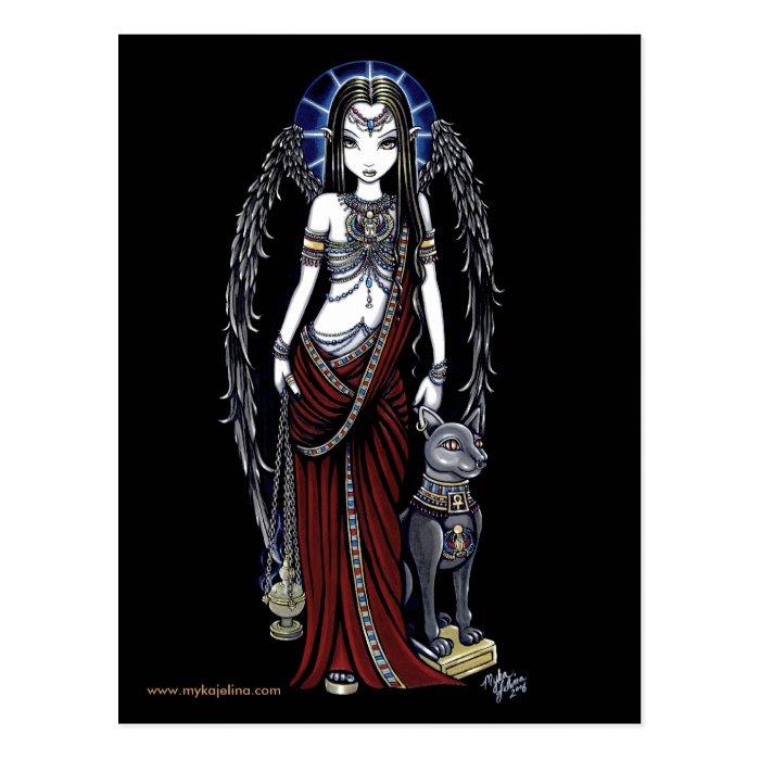 Nefertari Egyptian Bastet Goddess Angel Postcard