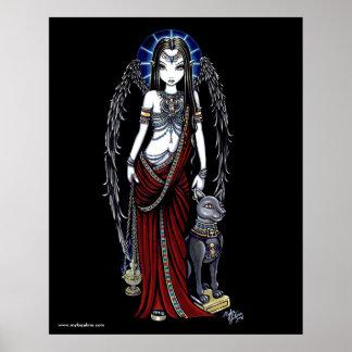 Nefertari Egyptian Bastet Goddess Angel Poster