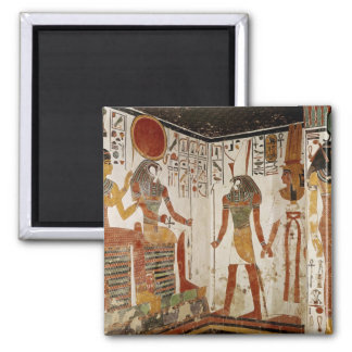 Nefertari is brought before the god 2 inch square magnet