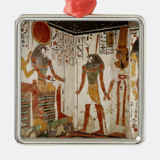 Nefertari is brought before the god metal ornament