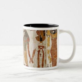 Nefertari is brought before the god Two-Tone coffee mug