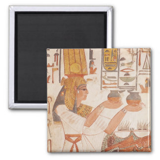 Nefertari Making an Offering 2 Inch Square Magnet