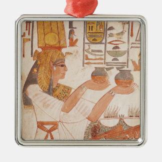 Nefertari Making an Offering Metal Ornament