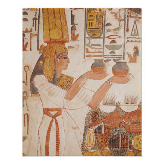 Nefertari Making an Offering Poster