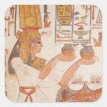 Nefertari Making an Offering Square Sticker