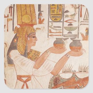 Nefertari Making an Offering Square Sticker