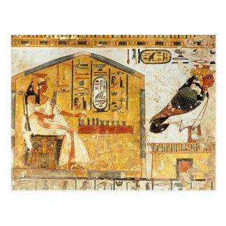 Nefertari playing senet postcard