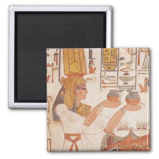 Nefertari que hace un ofrecimiento imán cuadrado