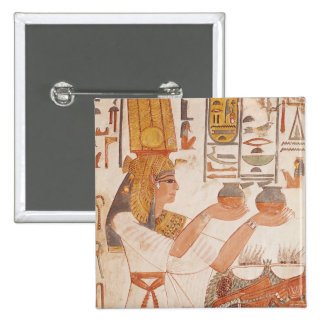 Nefertari que hace un ofrecimiento pin cuadrado