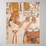 Nefertari que hace un ofrecimiento póster