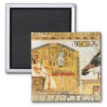 Nefertari que juega el senet iman para frigorífico