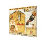 Nefertari que juega el senet impresión en lienzo