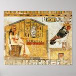 Nefertari que juega el senet póster