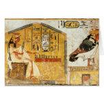 Nefertari que juega el senet tarjeta de felicitación
