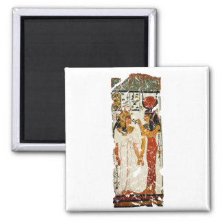 Nefertari with Isis 2 Inch Square Magnet