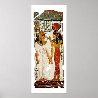 Nefertari with Isis Poster