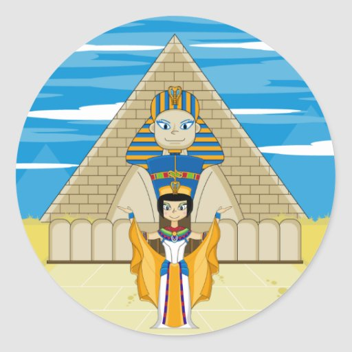 Nefertiti at The Great Sphinx of Giza Sticker