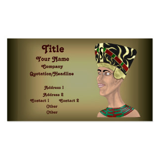 Nefertiti Bust Double-Sided Standard Business Cards (Pack Of 100)