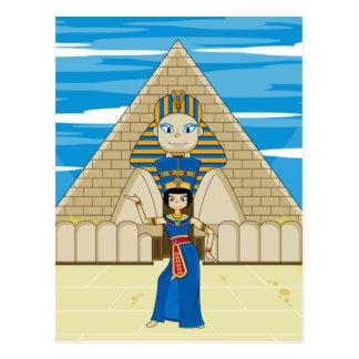 Nefertiti Dancing at The Great Sphinx Postcard