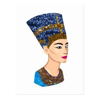 nefertiti egipcio de la reina postal