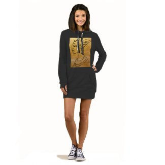 Nefertiti Hoodie Dress