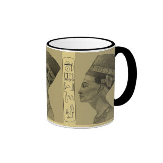 Nefertiti pencil  grey ringer coffee mug