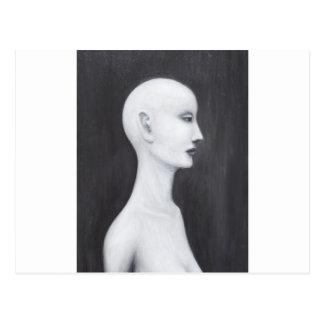 Nefertiti real (retrato blanco y negro del postales