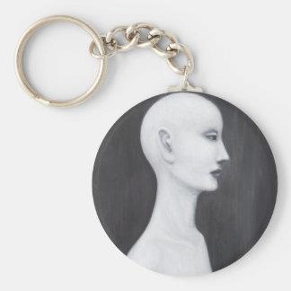 Nefertiti real (retrato blanco y negro del realism llavero personalizado