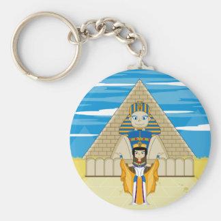Nefertiti y la gran esfinge del llavero de Giza