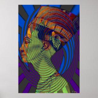 Nefertiti's vibrations New  print