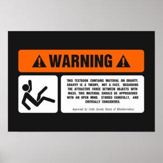 Negación de la gravedad póster