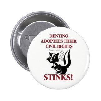 Negación de las derechas civiles pin redondo de 2 pulgadas
