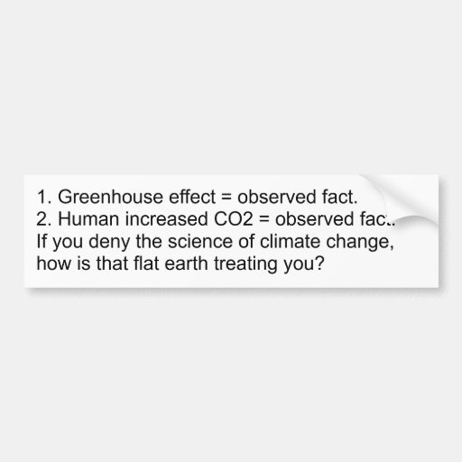 Negación del calentamiento del planeta = Antiscien Etiqueta De Parachoque