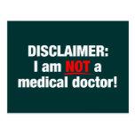Negación: ¡No un doctor! Tarjeta Postal