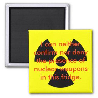Negación nuclear imanes de nevera