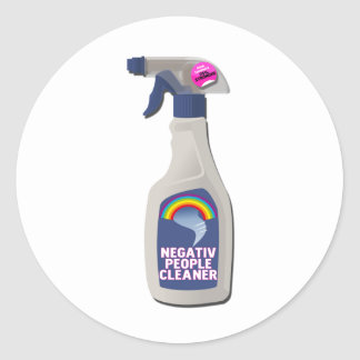 NEGATIV PEOPLE CLEANER CLASSIC ROUND STICKER